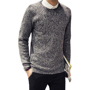 Autumn Winter Brand Men Sweaters Cashmere Wool Pullovers Knitting Thick Warm Designer Slim Fit Casual Knitted Man Knitwear - CelebritystyleFashion.com.au online clothing shop australia