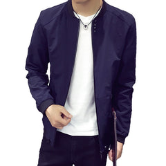 New Arrival Autumn Men's Coat Fashion Bomber Jacket Men Stand Collar Brand Clothing Mens - CelebritystyleFashion.com.au online clothing shop australia