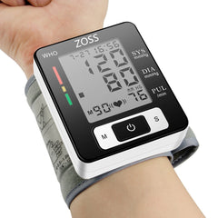 English Cuff Wrist Blood Pressure Meter Monitor Heart Rate Pulse Portable Tonometer BP