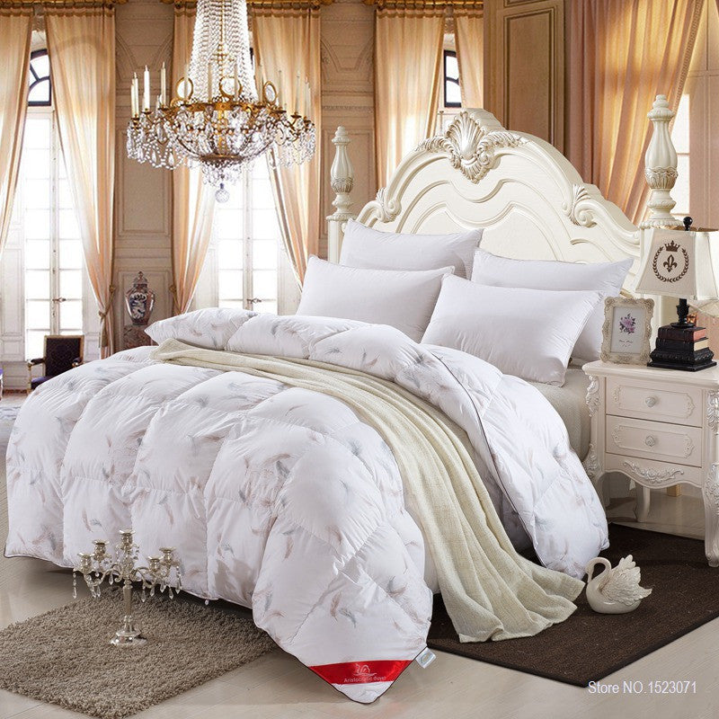 120x150cm 1300g100% white duck/goose down winter quilt comforter blanket duvet filling with cotton cover twin queen king size