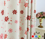 Luxury modern floral shade blackout curtains for living room the bedroom kitchen room window curtain set blinds drapes