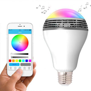 Smart LED Bulb Light Wireless Bluetooth Speaker E27 5W Lamp Audio Loudspeaker for Android ISO iPhone iPad