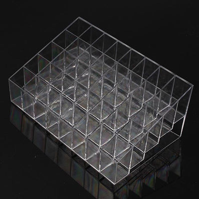 40 Trapezoid Clear Makeup Cosmetic Cases Display Lipstick Stand Case Cosmetic Organizer Holder Lipstick Box 678406