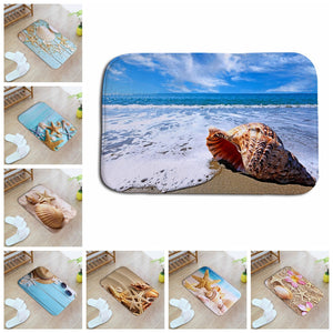 Creative Sea Pattern 3D Printed Hallway Entrance Outdoor Floor Mats Children Rooms Rug Kitchen Bath Carpets Outdoor Home Decor