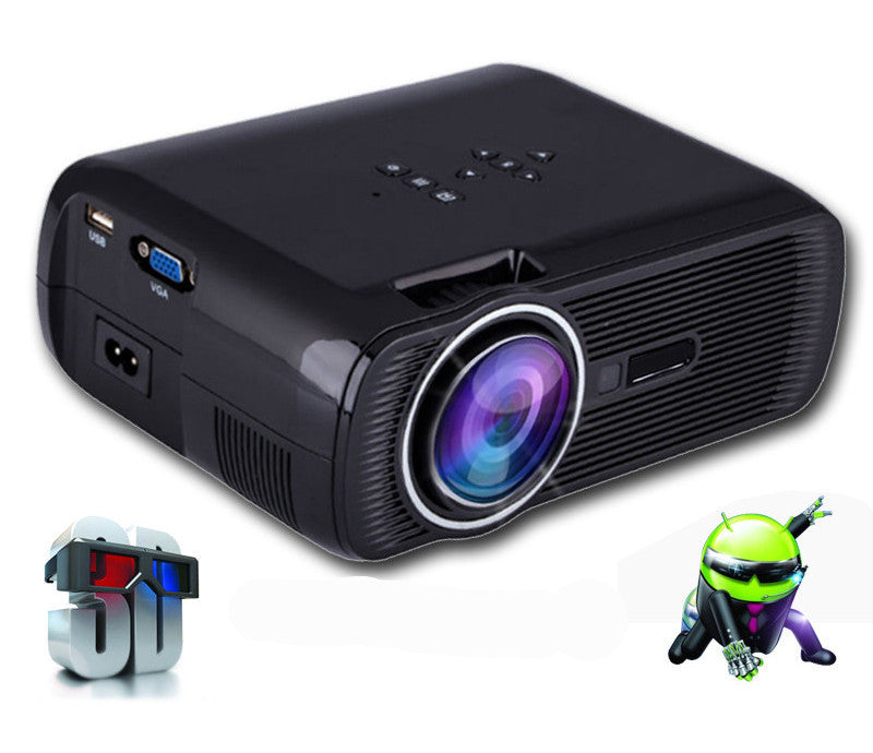 Black No WifiATCO bl80 1800lumen Portable Mini full HD 1080P TV LED 3D Projector Android Wifi Smart Home Theater Beamer Proyector everycom