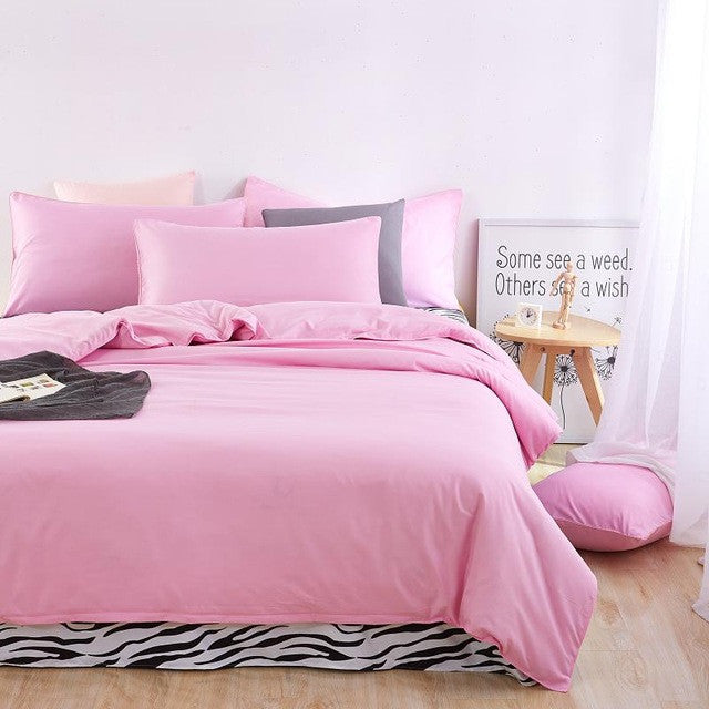 zebra pink / FullAutumn bedding set Brief style bed linens 5 size zebra-stripe bed sheet Microfiber brushed bed set bedding
