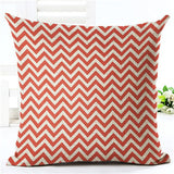 Colorful Geometric Series Printed Linen Cotton Square 45x45cm Home Decor Houseware Throw Pillow Cushion Cojines Almohadas