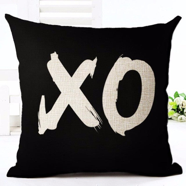 1 / without pillow innerDeer Love Star Panda Printed Cotton Linen Pillowcase Decorative Pillows Cushion Use For Home Sofa Car Office