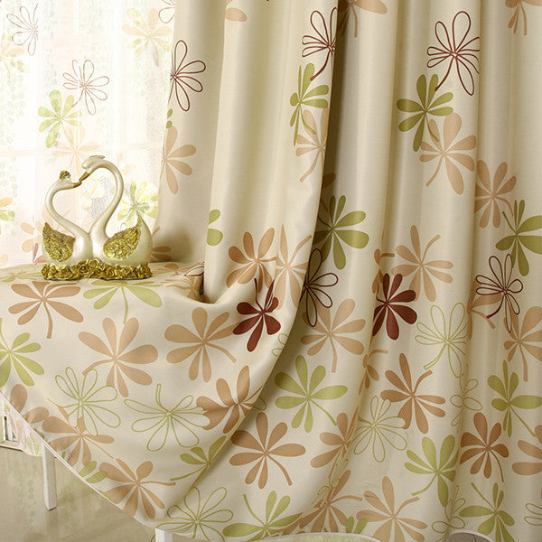 Green curtain / W250xH270cm / 1 Tab TopFinished Pink Petal Window Curtains for Living Room the Bedroom Kitchen Window Treatments Drapes Panel