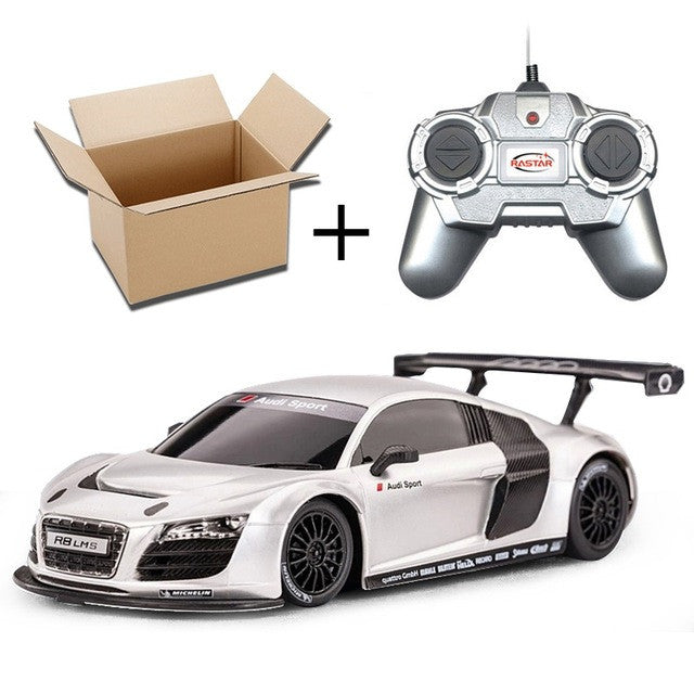 Silver Without Box1:24 Electric Mini RC Cars 4CH Remote Control Toys Radio Controlled Cars Toys For Boys Kids Gifts No Original Box R8LMS 46800