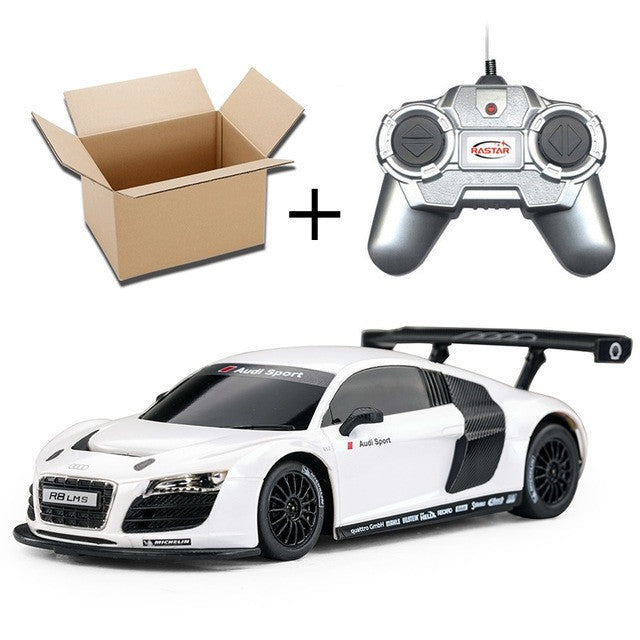 1:24 Electric Mini RC Cars 4CH Remote Control Toys Radio Controlled Cars Toys For Boys Kids Gifts No Original Box R8LMS 46800White Without