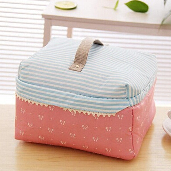 Pink BowknotPortable Cosmetic Bag Lingerie Bra Underwear Dot Bags Makeup Organizer Storage Case Travel Toiletry Bag