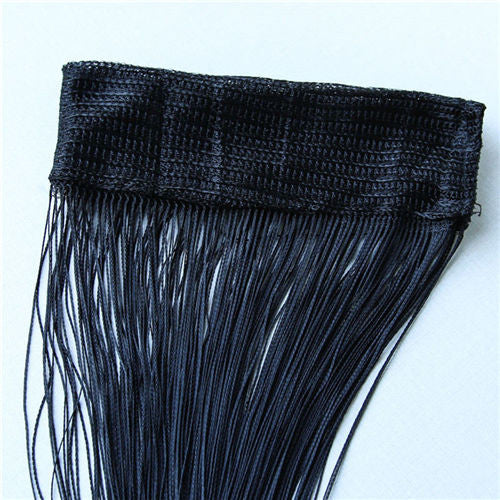 Black2m*1m 12 Colors String Curtains Door Window Panel Curtain Divider Yarn String Curtain Strip Tassel Drape Decor for Living Room
