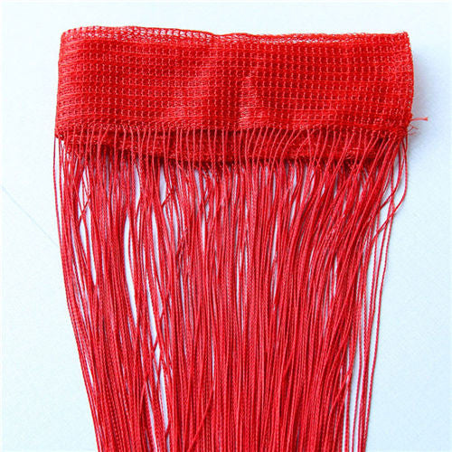Red2m*1m 12 Colors String Curtains Door Window Panel Curtain Divider Yarn String Curtain Strip Tassel Drape Decor for Living Room