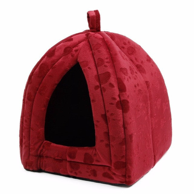 as picture / MCat House and Pet Beds 5 Colors Beige and Red Purple, Khaki, Black with Paw Stripe, White with Paw Stripe