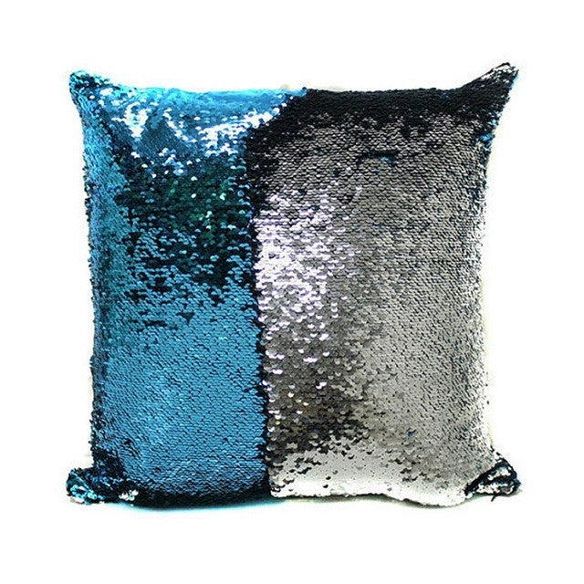 1 / 400mm40*40CM DIY Glitter Sequins Magic Throw Pillow Cases Cover Mermaid Changing Scale Hugging Cushion Decorative Pillow Case Cover