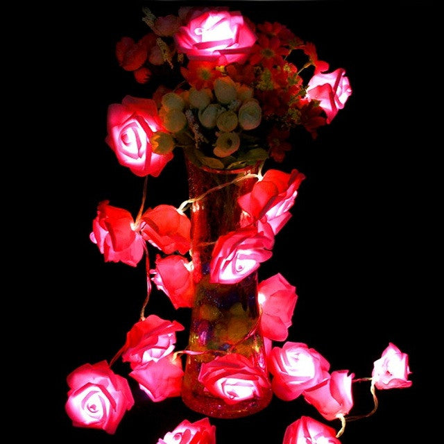RedNew 1.2m 10 LED Christmas Wedding Flower Rose Fairy String Lights Lamp Indoor/Outdoor Decoration Christmas Decoration