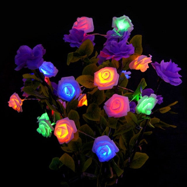 RGBNew 1.2m 10 LED Christmas Wedding Flower Rose Fairy String Lights Lamp Indoor/Outdoor Decoration Christmas Decoration