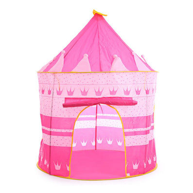 2 Colors Play Tent Portable Foldable Tipi Prince Folding Tent Children Boy Castle Cubby Play House Kids Gifts Outdoor Toy Tents