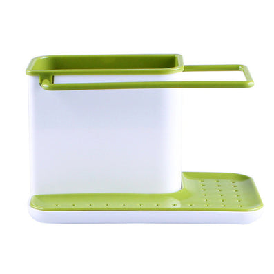 Holder Sponge Kitchen Box Draining Rack Dish Self Draining Sink Storage Rack Kitchen Organizer Stands Utensils Towel Rack