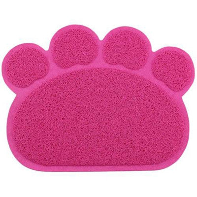 4 rose Red paw / 30x40cmHot sale 30x40cm PVC Dog Paw Shape Cup rectangle Pet Dog Puppy Cat Feeding Mat Pad Bed Dish Bowl Food Water Feed Placemat
