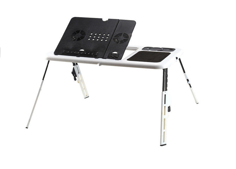 AustraliaComputer Standing Table Portable Laptop Desk Adjustable Computer Table Bed Sofa Stand Tray USB Cool Fans