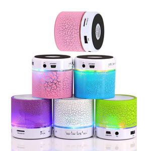 LED MINI Bluetooth Speaker BS008 Wireless Portable Music Speaker Sound Box Subwoofer TF USB Loudspeakers For phone PC