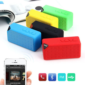 X3 Mini Wireless Speaker Support USB/FM Radio/TF Card Built-in Microphone For Android/IOS Phones