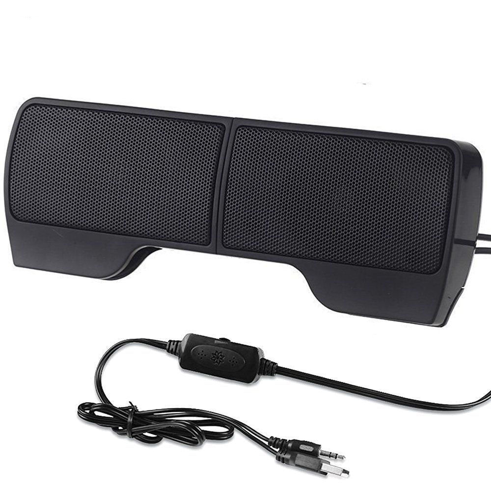 Mini Portable Clipon Line Driver USB Stereo Speaker Sound Bar for Notebook PC Laptop Computer with Clip