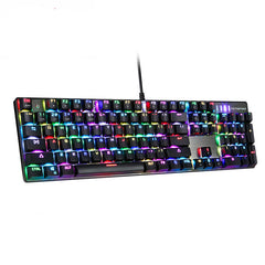 Motospeed CK104 Wired Mechanical Keyboard 104 Keys Real RGB Blue Switch Gaming LED Backlit Anti-Ghosting for Gamer Computer