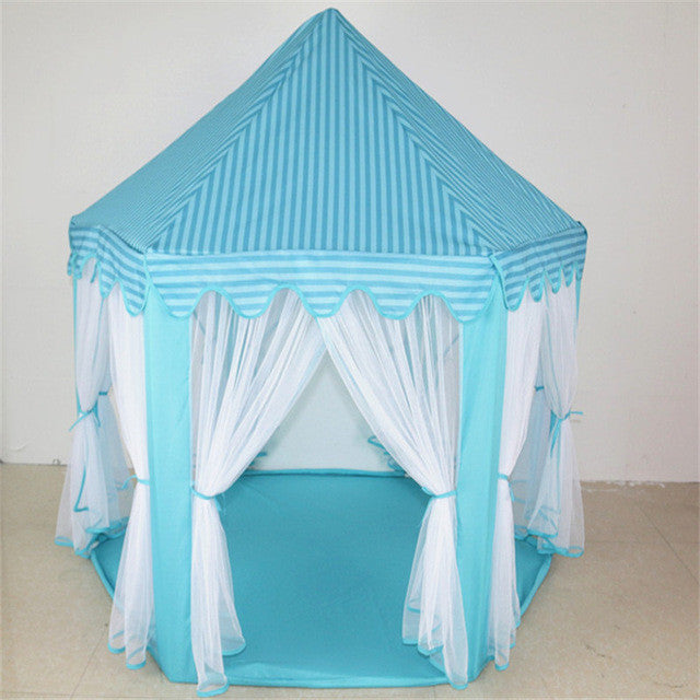BlackPortable Children Kids Play Tents Outdoor Garden Folding Toy Tent Pop Up Kids Girl Princess Castle Outdoor House Kids Tent