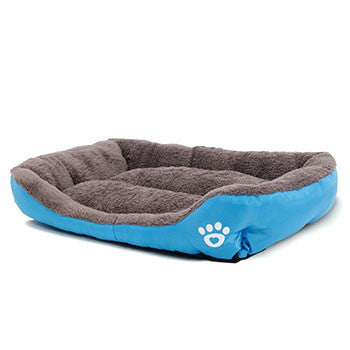Blue / SPet Dog Bed Warming Dog House Soft Material Pet Nest Dog Fall and Winter Warm Nest Kennel For Cat Puppy Plus size