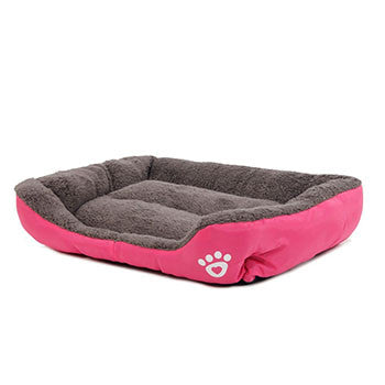 Pink / SPet Dog Bed Warming Dog House Soft Material Pet Nest Dog Fall and Winter Warm Nest Kennel For Cat Puppy Plus size