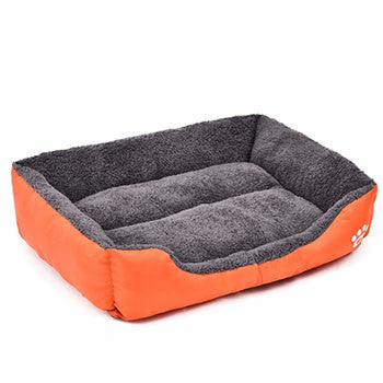 Orange / SPet Dog Bed Warming Dog House Soft Material Pet Nest Dog Fall and Winter Warm Nest Kennel For Cat Puppy Plus size
