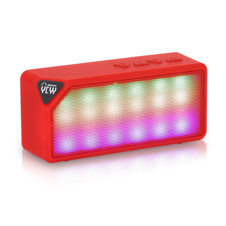 RedYCYY X3S Mini Wireless Colorful LED Lights Bluetooth 2.0 Speaker Support Handsfree TF AUX FM Radio for Smartphone