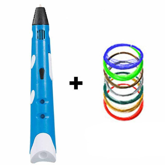 BlueMyriwell MR RP-100A Magic 3d printer pen Drawing 3D Pen With 3Color ABS filaments 3D Printing 3d pens for kids birthday present