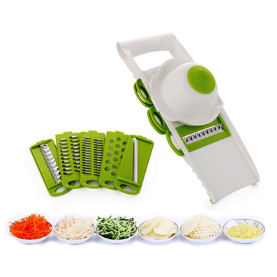 WALFOS Mandoline Slicer Vegetables Cutter with 5 Stainless Steel Blade Carrot Grater Onion Dicer Slicer Kitchen Accessories