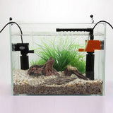 3W/5W Mini 3 in 1 Multi-function Aquarium Purifier Water Quality Tank Filter E2