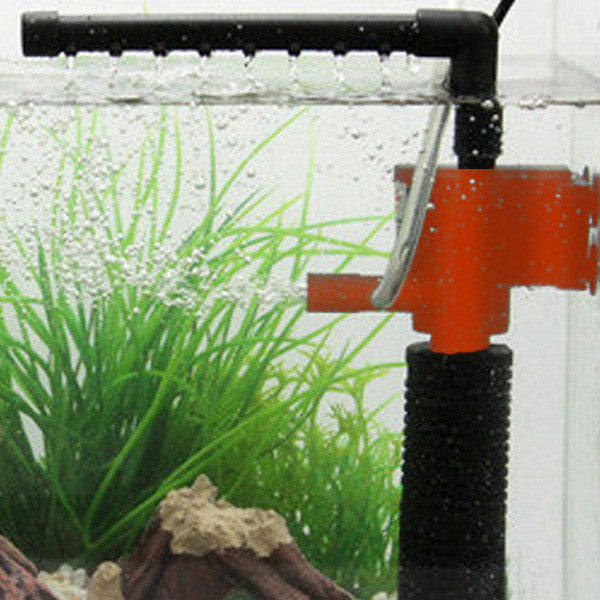 5w / as show3W/5W Mini 3 in 1 Multi-function Aquarium Purifier Water Quality Tank Filter E2