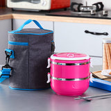 Korean Stainless Steel Thermos Bento Lunch Box for Kids Thermal Food Container Food Box Lunchbox Portable