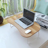 Non-slip sponge foot/Fold lazy/simple/study desk/Thickened panel/Laptop desk /Bed computer desk /Thickened steel pipe
