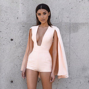 V-neck Sleeveless Jumpsuit One Piece Kim Kardashian Style - CelebritystyleFashion.com.au online clothing shop australia
