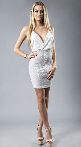 Velvet Sleeveless Dress - CelebritystyleFashion.com.au online clothing shop australia