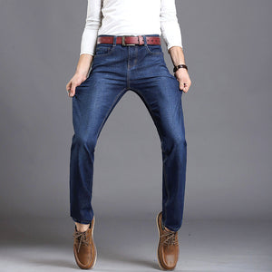 men fashion straight men Jeans classic denim brand jeans fall Winter Stretch jeans cotton Slim Jeans - CelebritystyleFashion.com.au online clothing shop australia