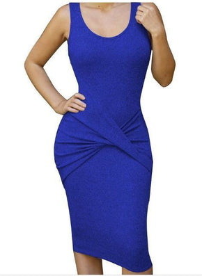Bandage Front Cross Elegant Party Dress -  - 1