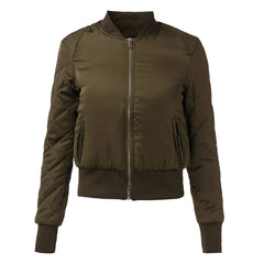 Fashion Womens Winter Warm V-Neck Quilted Zipper Coat Jacket Padded Bomber Fleece Short Outerwear Tops chaquetas 6 Colors - CelebritystyleFashion.com.au online clothing shop australia