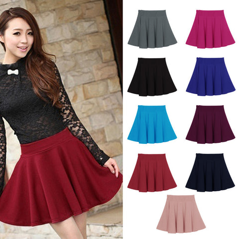 New Women Skirt Sexy Mini Short Skirt Fall Skirts Womens Stretch High Waist Pleated Tutu Skirt - CelebritystyleFashion.com.au online clothing shop australia