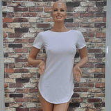 Short Sleeve Casual Tee T Shirt Mini Party Dress -  - 11