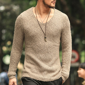 Pullover Men V neck Sweater Men's Brand Slim Fit Pullovers Casual Sweater Knitwear Pull Homme High Quality New Fashion - CelebritystyleFashion.com.au online clothing shop australia