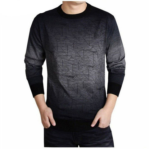 Cashmere Sweater Men Brand Clothing Mens Sweaters Fashion Print Hang Pye Casual Shirt Wool Pullover Men Pull O-Neck Dress T - CelebritystyleFashion.com.au online clothing shop australia